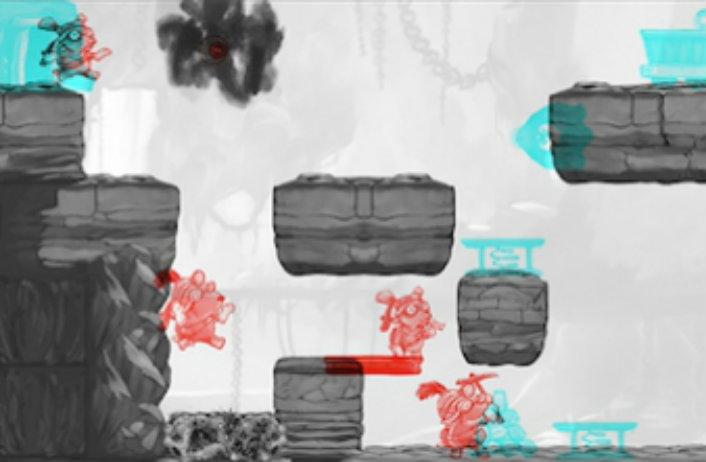 Capture d'écran du jeu Dig Rush (Amblyotech, Ubisoft, Université McGill)